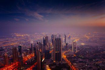 Dubai wallpaper, united arab emirates, uae, skyline, skyscraper, tower block