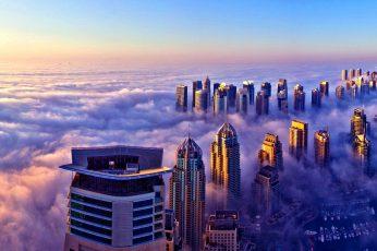 UAE wallpaper, dubai observation deck, asia, horizon, tower block, atmosphere