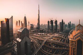 Cityscape wallpaper, metropolitan area, skyscrapers, burj khalifa, metropolis