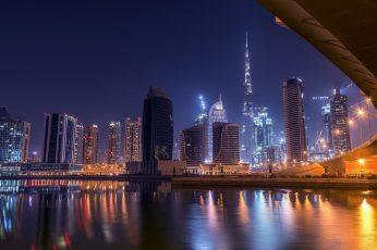 Night wallpaper, uae, united arab emirates, dubai, asia, architecture