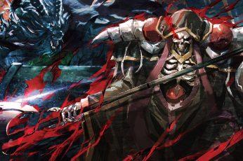 Overlord wallpaper (anime), Ainz Ooal Gown, fantasy art, skull, demon
