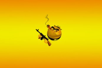 Smoke and Gun wallpaper, emoji application, funny
