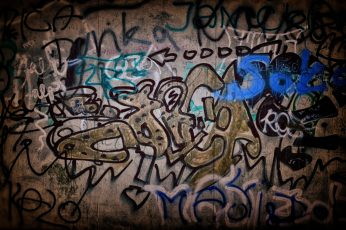 Silhouette photography of graffiti wall wallpaper, background