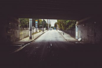 Street wallpaper, atlanta, city, overpass, underpass, ghetto, direction
