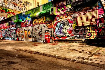 Assorted-color graffiti wallpaper, asphalt, wall, creativity, art and craft