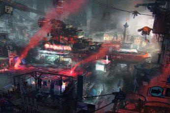 Cyberpunk wallpaper, city, ghetto, futuristic, Remember Me, apocalyptic