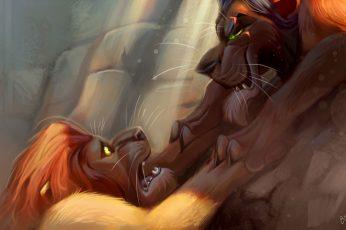 Lion King illustration wallpaper, The Lion King, animals, Mufasa, movies