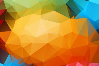 Multicolored wallpaper, colorful, triangle, abstract, digital art
