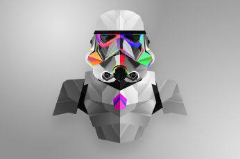 Grey and green Star Wars Snowtrooper illustration wallpaper, Justin Maller