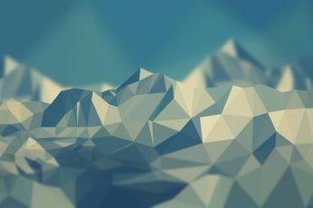 polygon wallpaper, white geometrical wallpaper, low poly, mountains, simple, no people