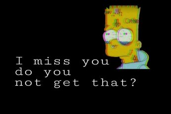 Sad aesthetic wallpaper, bart simpson