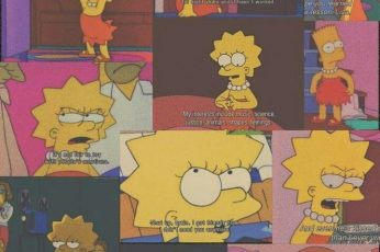 Sad aesthetic wallpaper Simpsons