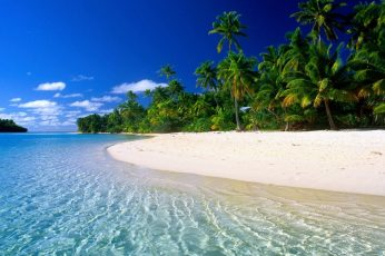 Beach desktop background, water, tropical climate wallpaper