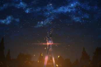 Nebula digital wallpaper, starry sky illustration, Sword Art Online