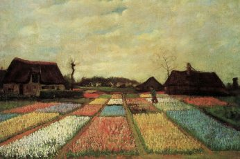 Vincent van Gogh wallpaper, Early paintings, plantation flowers, Bulb Fields