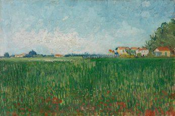 Vincent van Gogh wallpaper, oil painting, landscape, plant, water, no people