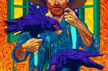 Vincent van Gogh wallpaper, smoking, colorful, abstract, crow, paint brushes