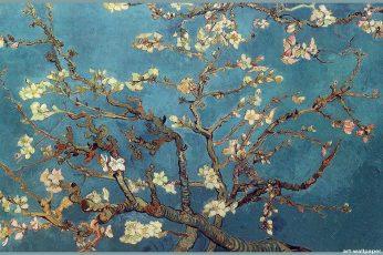 Vincent van Gogh wallpaper, classic art, painting, flowers, trees, artwork