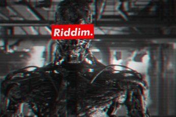 Riddim Dubstep wallpaper, glitch art, VHS, Terminator, Terminator 2, Terminator 3: Rise of the Machines
