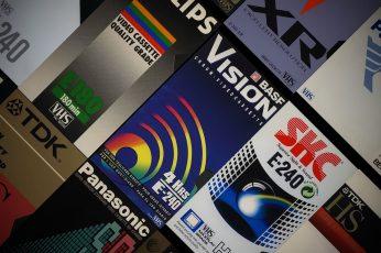 VHS wallpaper, video tape, nostalgia