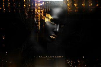 Black Flame wallpaper, silhouette of woman, Aero, Creative, cs9 fx design