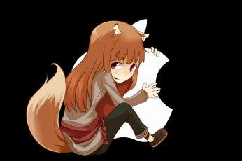 Anime girls amoled wallpaper, Spice and Wolf, Apple Inc., Holo