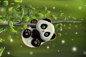 Wallpaper The game, baby, art, Panda, Desk, Amol Shede, Cute Panda
