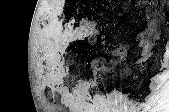 Moon planet amoled wallpaper, dark, monochrome