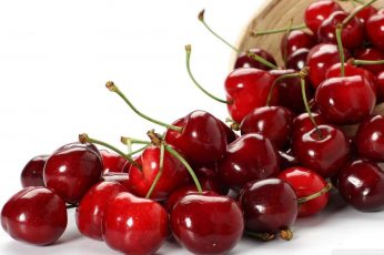 Red cherries wallpaper, food, fruit, closeup, cherries (food), food and drink