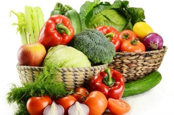 Assorted vegetables wallpaper, basket, food, fruit, tomato, wellbeing, freshness