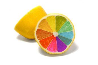 Sliced of lemon wallpaper, colorful, food, simple background, minimalism