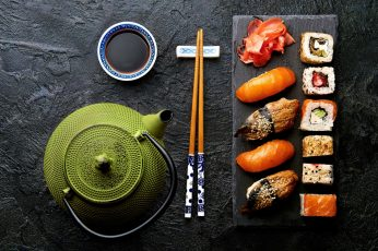Food wallpaper, still life, sushi