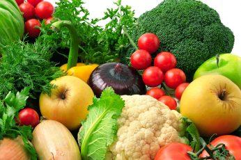 Vegetables wallpaper, agriculture, apple, arrangement