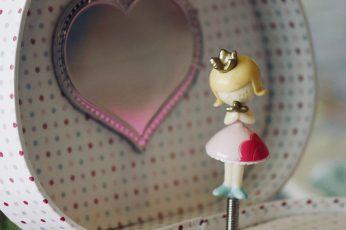 Music box wallpaper, pink, dancer, little girl, girls, jewelry box, ballerina