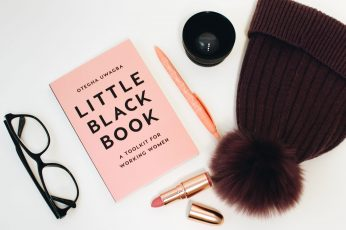 Little Black Book Beside Eyeglasses and Lipstick Case wallpaper, bonnet