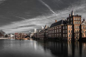 Body of water near building wallpaper, architecture, binnenhof, den haag