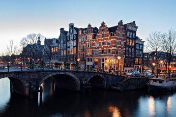 Amsterdam wallpaper, Nederland, gray concrete bridge, Netherlands, city