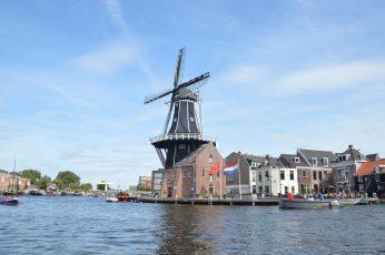 Haarlem wallpaper, water, holland, lake, city, netherlands, dutch, sky