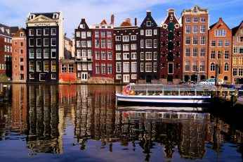 Nyhavn wallpaper, Denmark, water, the city, reflection, river, home, Amsterdam