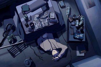 Lofi anime sad wallpaper