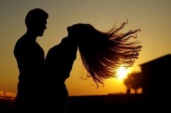 Couple Sunset Girl Boy Love wallpaper