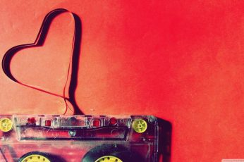 Cassette wallpaper, love, heart, red, technology, no people, indoors