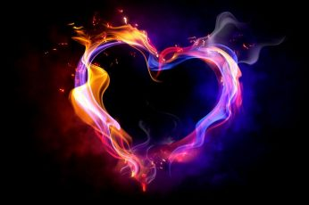 Heart wallpaper, Love, Romance, Dark Background, Feelings