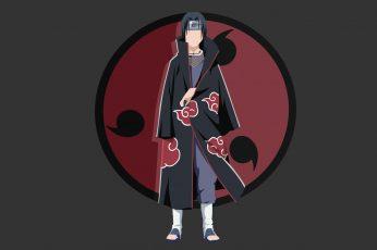 Anime walpaper, Naruto, Akatsuki (Naruto), Itachi Uchiha, Minimalist