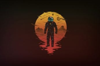 Astronaut minimalism wallpaper, minimalist, artist, artwork, digital art