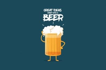 Humor, Minimalist, Beer wallpaper