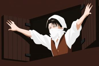 Anime wallpaper, Attack On Titan, Levi Ackerman, Minimalist, Shingeki No Kyojin