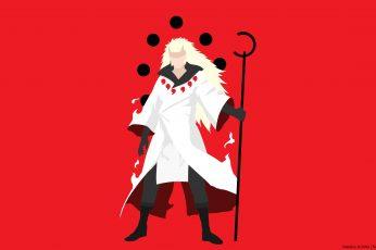Anime Naruto Boy wallpaper, Madara Uchiha, Minimalist, Sage (Naruto)