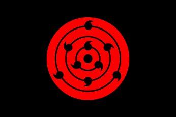 Anime Naruto Minimalist wallpaper, Rinne Sharingan, Sharingan (Naruto)