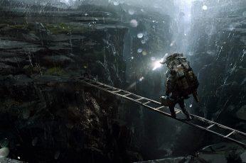 Death Stranding wallpaper, video games, video game art, Darek Zabrocki